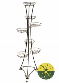 Подставка для цветов напольная РЗДИ на 7 горшков антик серебро в Орехово-Зуево СтройДвор на Карболите