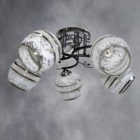 Люстра 6886/5 CR+BK хром+венге 5х40W E27 KLD17 в Орехово-Зуево СтройДвор на Карболите