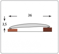 Порог ИЗИ 36 мм 180 см Клен в Орехово-Зуево СтройДвор на Карболите