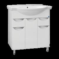 Тумба для ванной Жасмин-80 2 ящика + умывальник Эльбрус 80 в Орехово-Зуево СтройДвор на Карболите