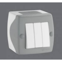 Mono Octans выкл. ОУ 3кл. 10А Сер/Бел 104-020001-114 в Орехово-Зуево СтройДвор на Карболите