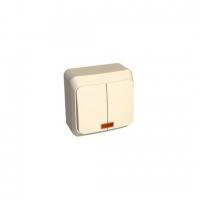 Выключатель 2-кл. 10А  Sch BA10-006В с посветкой в Орехово-Зуево СтройДвор на Карболите