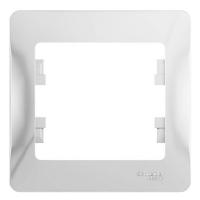 Рамка 1-постовая GLOSSA GSL000101, Белый в Орехово-Зуево СтройДвор на Карболите