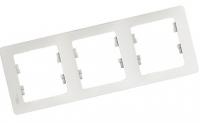 Рамка 3-постовая GLOSSA GSL000103 , Белый в Орехово-Зуево СтройДвор на Карболите