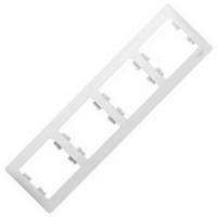 Рамка 4-постовая GLOSSA  GSL000104, Белый в Орехово-Зуево СтройДвор на Карболите