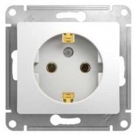 Розетка электрическая 2Р+Е GLOSSA GSL000143 Белый в Орехово-Зуево СтройДвор на Карболите