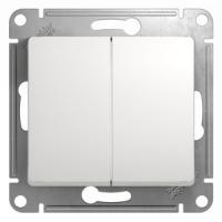 Выключатель электрический двухклавишный сх.5, GSL000151, Белый в Орехово-Зуево СтройДвор на Карболите
