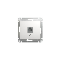 Розетка телеф RJ11, белый GLOSSA GSL000181 в Орехово-Зуево СтройДвор на Карболите