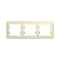 Рамка 3-поставая, беж, GLOSSA GSL000203 в Орехово-Зуево СтройДвор на Карболите