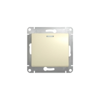 Выключатель 1-клав, с подсв, беж. GLOSSA GSL000213 в Орехово-Зуево СтройДвор на Карболите