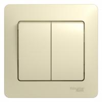 Выключатель 2-клав, беж. GLOSSA GSL000251 в Орехово-Зуево СтройДвор на Карболите