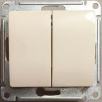 Переключатель 2-клав, беж. GLOSSA GSL000265 в Орехово-Зуево СтройДвор на Карболите