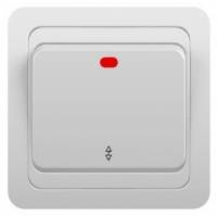 Выключатель 1-кл с подсветкой С/У Jilion Белый в Орехово-Зуево СтройДвор на Карболите