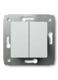 Выключатель проходной С/У Белый Jilion  2-кл в Орехово-Зуево СтройДвор на Карболите
