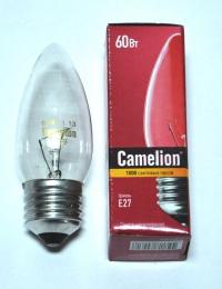 Лампа накаливания MIC Camelion 60/B/CL/E27 прозрачная свеча в Орехово-Зуево СтройДвор на Карболите
