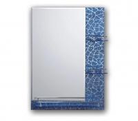 Зеркало для ванной темно-синее с полками 70 х 50 F657 в Орехово-Зуево СтройДвор на Карболите