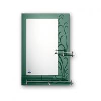 Зеркало зеленое для ванной с полочками 70 х 50 F686 в Орехово-Зуево СтройДвор на Карболите