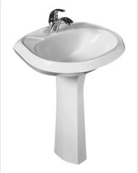 Раковина для ванной с пьедесталом Тюльпан ЛОТОС белый в Орехово-Зуево СтройДвор на Карболите