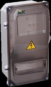 Щит для установки электросчетчика учетно-распределительный навесной ЩРУн-П 3/8 IP55 в Орехово-Зуево СтройДвор на Карболите
