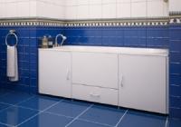 Экран для ванной с выдвижным ящиком 1490 х 540-580 мм Белый в Орехово-Зуево СтройДвор на Карболите