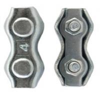 Зажим для стальных канатов двойной 8 мм белый цинк в Орехово-Зуево СтройДвор на Карболите