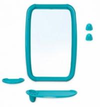 Набор для ванной зеркало с полкой светло-голубой в Орехово-Зуево СтройДвор на Карболите