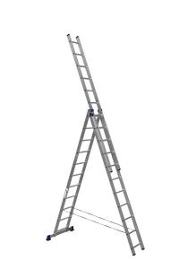 Лестница алюминиевая 3-х секц 11 ступеней (5311) в Орехово-Зуево СтройДвор на Карболите