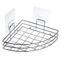 Полочка для ванной угловая хром с силиконовым креплением 27x18x11см 463-795 в Орехово-Зуево СтройДвор на Карболите
