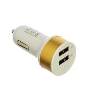 Автомобильное зарядное устройство USB в прикуриватель 2 USB 1А пластик, металл FORZA в Орехово-Зуево СтройДвор на Карболите