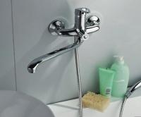 Смеситель для ванны Поворотный Длина излива: 40 см F2237 в Орехово-Зуево СтройДвор на Карболите