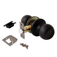 Ручка межкомнатной двери с замком светлое дерево/золото с ключом в Орехово-Зуево СтройДвор на Карболите