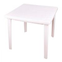 Стол квадратный 80 х 80 х 74 Альтернатива белый пластик в Орехово-Зуево СтройДвор на Карболите