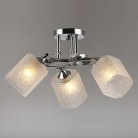 Люстра на потолок хром 3 лампы в Орехово-Зуево СтройДвор на Карболите