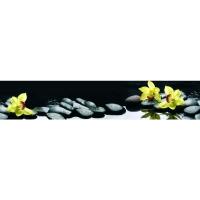 Фартук АБС Цветы на воде 600 х 3000 мм в Орехово-Зуево СтройДвор на Карболите