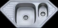 VG872 Мойка  кухонная металлическая VIGRO 950 х 500 х 180 глянец в Орехово-Зуево СтройДвор на Карболите