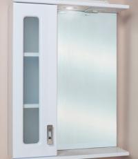 Шкаф-зеркало для ванной КРИСТАЛЛ 58.01 лев. в Орехово-Зуево СтройДвор на Карболите
