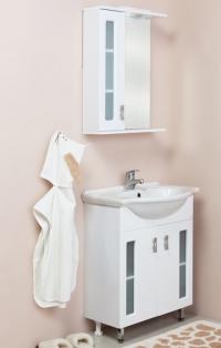 Тумба для ванной с раковиной КРИСТАЛЛ 55.18 в Орехово-Зуево СтройДвор на Карболите
