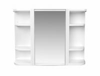 Набор для ванной из зеркала и полочек снежно-белый BEROSSI