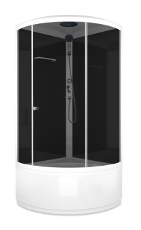 Душевая кабина DOMANI Spa-Simple high выс.под. 90 х 90 тонир. в Орехово-Зуево СтройДвор на Карболите