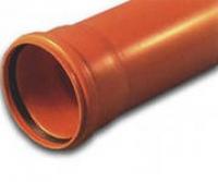 Канализационная труба 160 x 1000 мм рыжая в Орехово-Зуево СтройДвор на Карболите