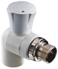 Кран полипропиленовый фитинг для радиатора угловой 20 x 1/2