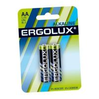 Элемент питания Ergolux AA LR6 2 шт в Орехово-Зуево СтройДвор на Карболите